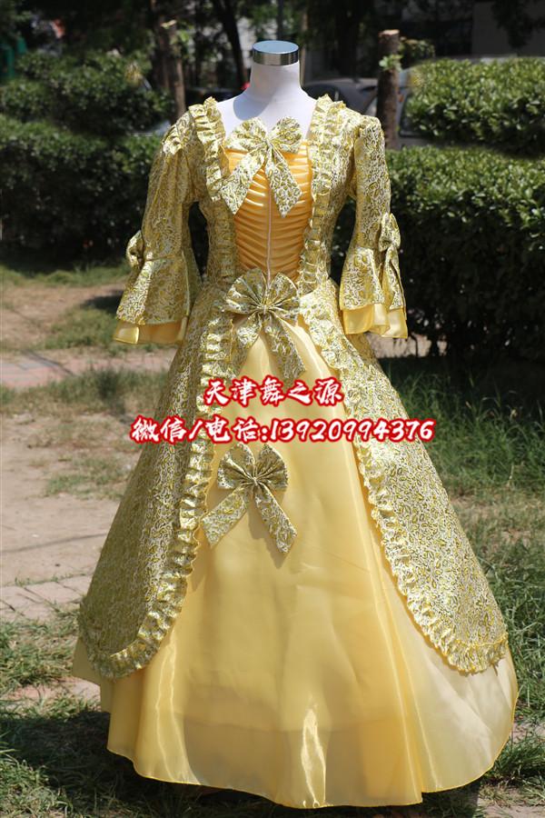 金色女欧式礼服