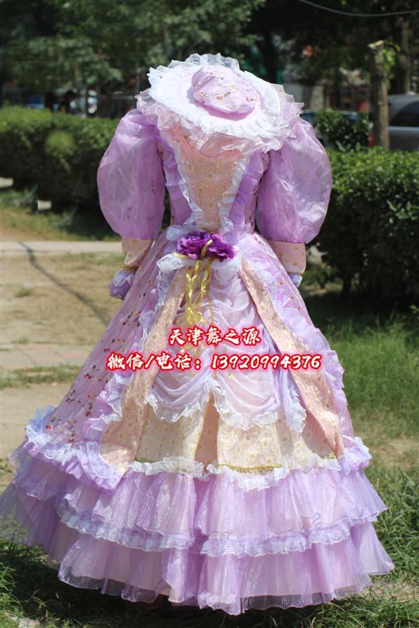 紫色小袖女欧式礼服
