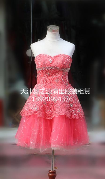 粉色小纱裙出租